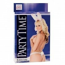 Ушки зайчика и стринги Calexotics Bunny party white (OS)